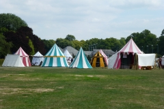 The re-enactors' tented camp