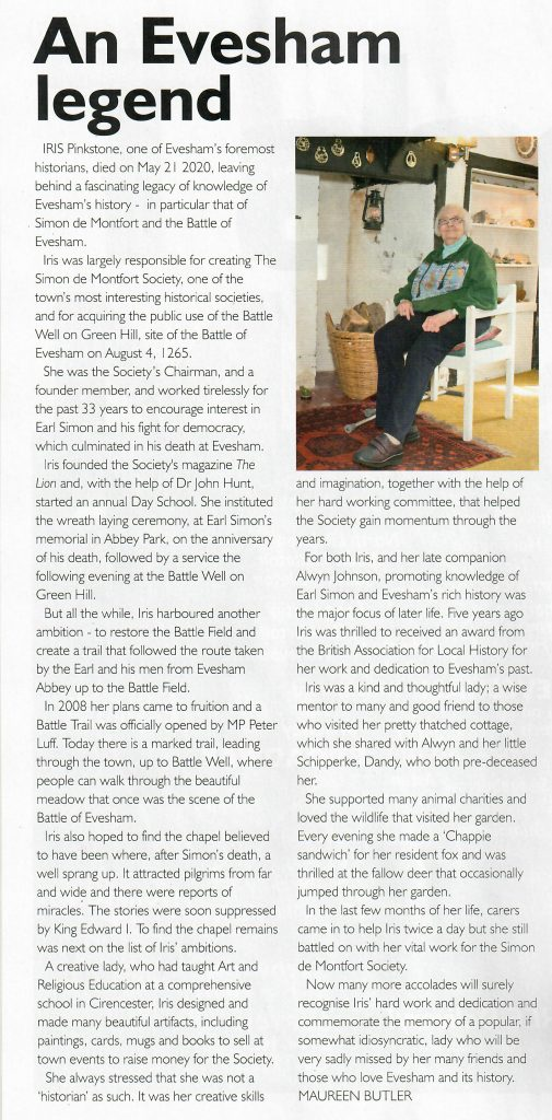 An Evesham Legend, article from Cotswold & Vale Magazine No. 241